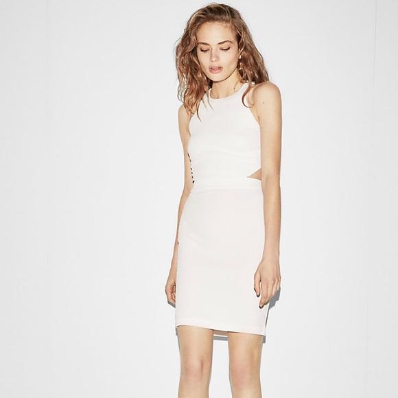dad424aa Express Dresses | Cutout Back Mini Sheath Dress Nwt | Poshmark